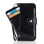 For iPhone 7 Case / iPhone 7 Plus Case / iPhone 6 Case Card Holder / with Stand / Flip Case Full Body Case Solid Color Hard PU Leather