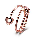 Women's Band Rings Jewelry Casual/Party/Daily/Wedding Fashion Copper White/Rose Gold 1pc Gift