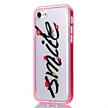 For iPhone 7 Case / iPhone 6 Case / iPhone 5 Case Transparent / Pattern Case Back Cover Case Word / Phrase Soft TPU AppleiPhone 7 Plus /