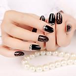 24Pcs Hepburn Style High Quality Nail Strips Fashion Atmosphere 1Set