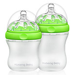 Kumeng Baby Extra Wide Neck Silica gel Feeding bottle For All Ages Baby 2pcs(160mL 230mL)