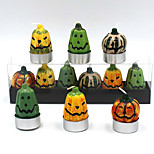 6Pcs Halloween Pumpkin Candles Household Adornment Candles Christmas  Color Random