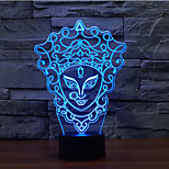 Facebook Touch Dimming 3D LED Night Light 7Colorful Decoration Atmosphere Lamp Novelty Lighting Christmas Light