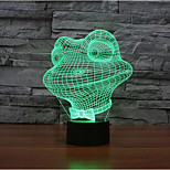 Frog Touch Dimming 3D LED Night Light 7Colorful Decoration Atmosphere Lamp Novelty Lighting Christmas Light