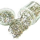 1pcs New Fashion Nail Glitter Powder Personal Design DIY Nail Art Decoration Colorful Nail Art Accessories 3D Nail Stickers(10G)