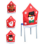 Santa Claus Snowflake Pattern Chair Cover Christmas Decoration Supplies Christmas Decorations(Style random)