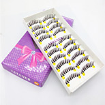 Eyelashes lash Full Strip Lashes Eyes Thick / The End Is Longer Volumized Handmade Fiber Transparent Band 0.10mm 12mm
