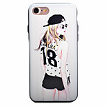 Sexy Girls Pattern PC Plus TPU Material Phone Case For iPhone 7 7 Plus 6 6Plus