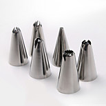 DIY Cake Decoration Stainless Steel Flower Making Nozzles Set(6 PCS)