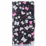 For Huawei Case Wallet / Card Holder / with Stand Case Full Body Case Cat Hard PU Leather Huawei Huawei P9 / Huawei P9 Lite