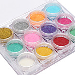 12 Color Manicure Shiny Mermaid Powder 2G Boxed