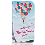 Balloon Pattern Leather PU Leather Material Leather Phone Case for  Motorola Moto G4 Plus / MOTO G4
