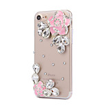 Per Con diamantini Custodia Custodia posteriore Custodia Fiore decorativo Resistente PC AppleiPhone 7 Plus / iPhone 7 / iPhone 6s Plus/6