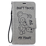 For LG Case Wallet / Card Holder / with Stand / Embossed Case Full Body Case Cartoon Hard PU Leather LG LG K10 / LG K8 / LG K7