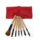 7 Makeup Brushes Set Nylon Wood G.R.C / Send package