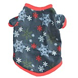 Christmas Fleece Warm Gingerbread Snowflake Dog Shirts for Pets Winter Dog Clothes