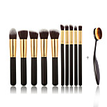 11Contour Brush / Makeup Brushes Set / Blush Brush / Eyeshadow Brush / Lip Brush / Brow Brush / Concealer Brush / Powder Brush /
