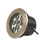 LED Underground Lights Outdoor Lawn Waterproof Spotlights 36w Stainless Steel Internal Control