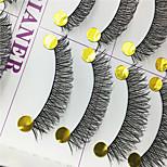 Ciglia Ciglia Ciglia finte a nastro Occhi Incrociate Ciglia curve Fatto a mano Fibra Black Band 0.10mm 12mm