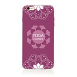 Para Diseños Funda Cubierta Trasera Funda Mandala Suave TPU AppleiPhone 7 Plus / iPhone 7 / iPhone 6s Plus/6 Plus / iPhone 6s/6 / iPhone