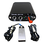 Solong tattoo kit Mini tattoo power supply  Foot Pedal Clip Cord for machine  kit black Color P162-1