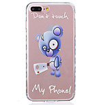 For iPhone 7 Plus 7 6s Plus 6 Plus 6S 6 SE 5s 5 TPU Material Blue Bear Pattern Wave Pattern Non-Slip Painting Phone Case