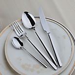 4-Piece Slap-Up Western Restaurant The Kitchen Utensils Stainless Steel Dinner Fork Dinner Knife Spoons  Forks Knives
