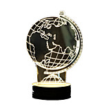 3D Globe Stereo Table Lamp New Peculiar Acrylic LED Lamp