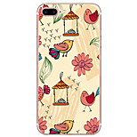 For iPhone 7 Case / iPhone 6 Case / iPhone 5 Case Ultra-thin / Pattern Case Back Cover Case Flower Soft TPU AppleiPhone 7 Plus / iPhone 7