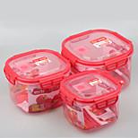3 Kitchen Plastic Lunch Box