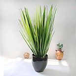 1 Branch Artificial Green Grass Plastic Leaves Plants For For Decor Artificial 1pc/set