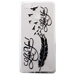 For Huawei Ascend P9 P9Lite P8Lite Case Cover Feather Pattern Painting Super Soft TPU Material