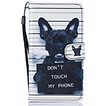 Dog Pattern PU Leather Full Body Case with Stand for Lenovo Vibe K5