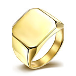 Ring Stainless Steel Silver Plated Gold Plated Fashion Silver Golden Jewelry Wedding Party Daily Casual 1pc