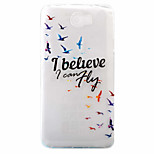 Birds Pattern Painted TPU Material Phone Case for Hawei Y5II  Y6 II