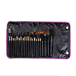 21 Makeup Brushes Set Goat Hair Portable Wood Face NFSS
