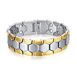 Pulseras y Brazaletes Cadenas y esclavas Acero inoxidable / Chapado en Oro Forma GeométricaModa / Adorable / Terapia Magnética /