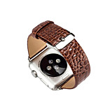 38/42mm Crocodile Leather for Apple Watch Wrist Strap Soft Genuine Snake Skin Pattern Watch Band Bracelet