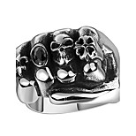 men's fashion charm stainless steel skull ring with zircon personalized Halloween gift exaggerated high-quality