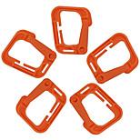 FURA Outdoor High-Strength Nylon Carabiners for Backpacks - Black / Orange / Green / Khaki(5 PCS)