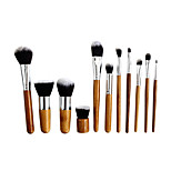 11 Makeup Brushes Set Nylon Professional / Portable Wood Face / Eye / Lip