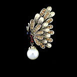 Fashion Vintage Hollow Out Pearl Butterfly Brooch