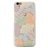 Colored Leaves Pattern Relief Love Hole Position Scrub TPU Material Phone Case  For iPhone 7  7Plus 6S 6 Plus
