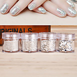 10G/PCS Nail art Act The Role Ofing Is Tasted Sterling Silver Sequins Flash Powder
