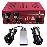Solong Tattoo Double Output Digital Tattoo Power Supply  Foot Pedal  Clip Cord Kit P130-1