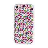 Floral Pattern 3D Stereo Relief Diamond Scrub TPU Material Phone Case For iPhone7 7 Plus