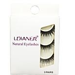 Eyelashes lash Full Strip Lashes Eyes Thick Volumized Handmade Fiber Black Band 0.07mm 14mm