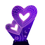 3d Stereoscopic Lights Illusion Lights LED Lights Creative Night Light Rose Heart - Shaped Projection Lamp