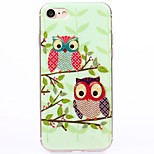 Cartoon Couple With owl TPU Protection Back Cover Case for iPhone 7/7 Plus/6S/6Plus/SE/5S