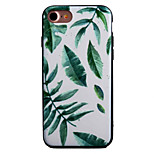 Leaves Pattern Painting Touch Feel TPU Border Acrylic Material Phone Case For iPhone 7  7Plus 6S 6 Plus